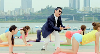 His hilarious music video gangnam style check it out below