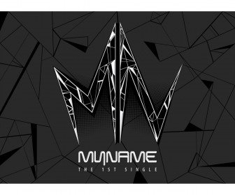 MYNAME 1st Single Album Cover