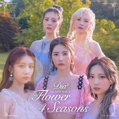 DIA 6th Mini Album Flower 4 Seasons Cover