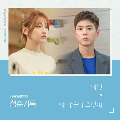 SEJEONG Record of Youth OST Part 9 Cover