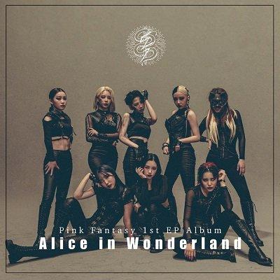 Pink Fantasy 1st EP Album Alice in Wonderland Cover